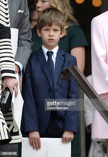 James Viscount Severn attends a National Service of Thanksgiving as part of the 90th birthday celebrations for The Queen at St Paul's Cathedral on...