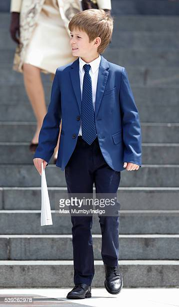 James Viscount Severn attends a national service of thanksgiving to mark Queen Elizabeth II's 90th birthday at St Paul's Cathedral on June 10 2016 in...