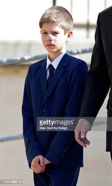 James Viscount Severn attends the traditional Easter Sunday church service at St George's Chapel Windsor Castle on April 21 2019 in Windsor England...