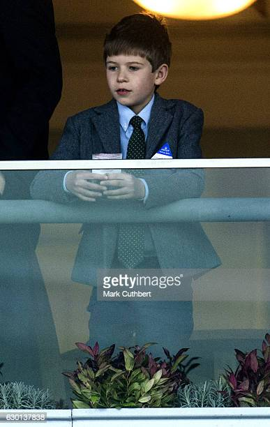 James Viscount Severn on his birthday attends the Christmas Racing Weekend at Ascot Racecourse on December 17 2016 in Ascot England