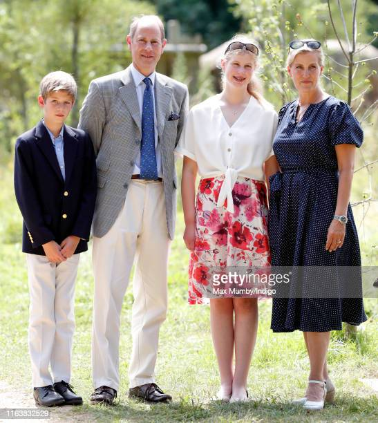 James Viscount Severn Prince Edward Earl of Wessex Lady Louise Windsor and Sophie Countess of Wessex visit The Wild Place Project at Bristol Zoo on...