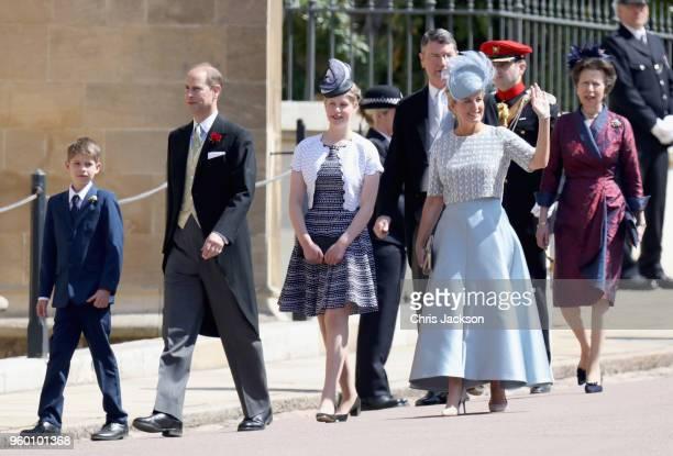 James Viscount Severn Prince Edward Earl of Wessex Lady Louise Windsor Timothy Laurence Sophie Countess of Wessex and Princess Anne Princess Royal...