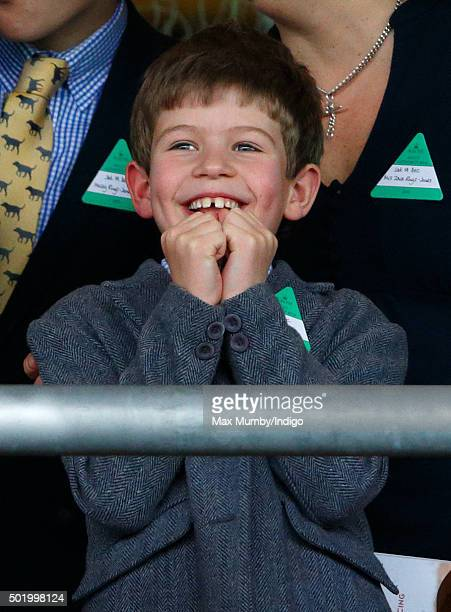 James Viscount Severn watches the racing as he attends the Christmas Racing Weekend at Ascot Racecourse on December 19 2015 in Ascot England
