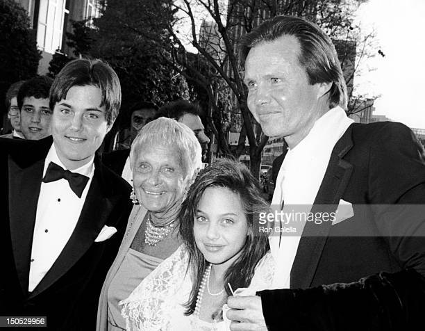 James Voight Barbara Voight Angelina Jolie and Jon Voight attend 58th Annual Academy Awards on March 24 1986 at the Dorothy Changler Pavilion in Los...