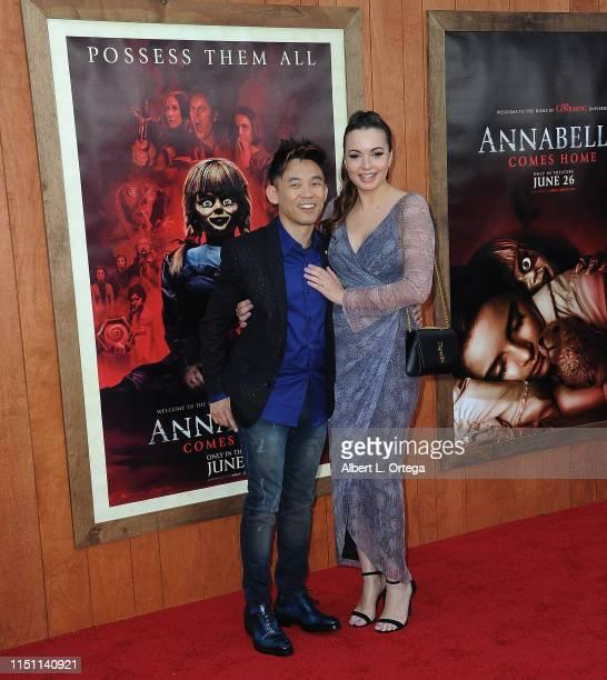 "James Wan and Ingrid Bisu arrive for the Premiere Of Warner Bros' ""Annabelle Comes Home"" held at Regency Village Theatre on June 20, 2019 in..."