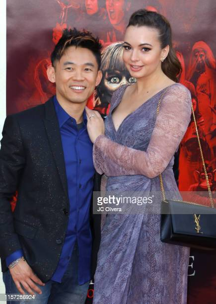 James Wan and Ingrid Bisu attend the premiere of Warner Bros' 'Annabelle Comes Home' at Regency Village Theatre on June 20 2019 in Westwood California