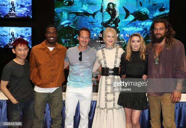 James Wan Yahya AbdulMateen II Patrick Wilson Nicole Kidman Amber Heard and Jason Momoa attend DC Entertainment's Warner Bros Pictures 'Aquaman'...