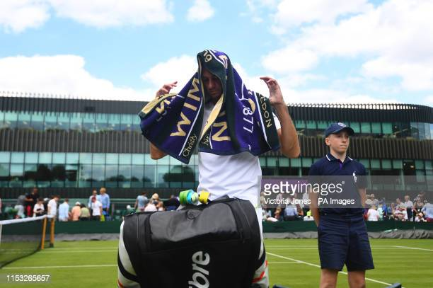 James Ward following his defeat to Nikoloz Basilashvili on day two of the Wimbledon Championships at the All England Lawn Tennis and Croquet Club...