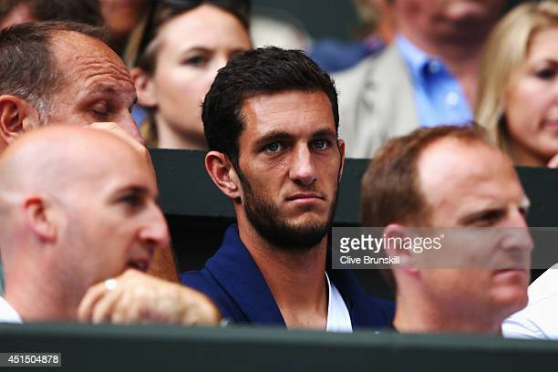 James Ward of Great Britain in the crowd to watch Andy Murray during his Gentlemen's Singles fourth round match against Kevin Anderson of South...