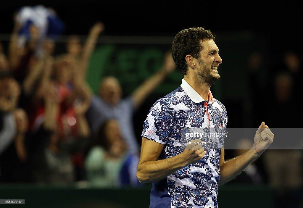 GB v USA - Davis Cup: Day 1 : News Photo