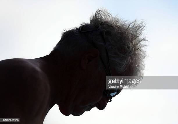 James Ward of the US competes in the Men's 50m Freestyle at Parc JeanDrapeau during the 15th FINA World Masters Championships on August 06 2014 in...