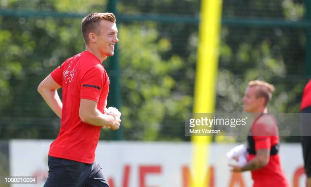 James WardProwse during a Southampton FC training session at the Staplewood Campus on July 16 2018 in Southampton England
