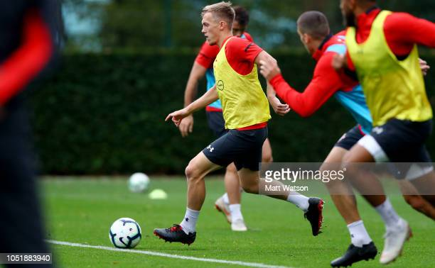 James WardProwse during a Southampton FC training session at the Staplewood Campus on October 11 2018 in Southampton England