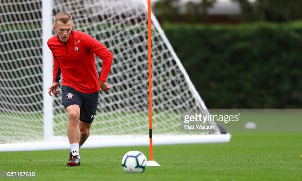 James WardProwse during a Southampton FC training session at the Staplewood Campus on October 15 2018 in Southampton England