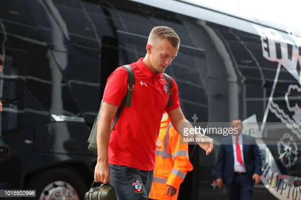 James WardProwse of Southampton ahead of the Premier League match between Southampton FC and Burnley FC at St Mary's Stadium on August 12 2018 in...