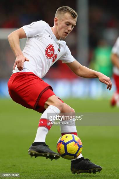 James WardProwse of Southampton during the Premier League match between AFC Bournemouth and Southampton at Vitality Stadium on December 3 2017 in...