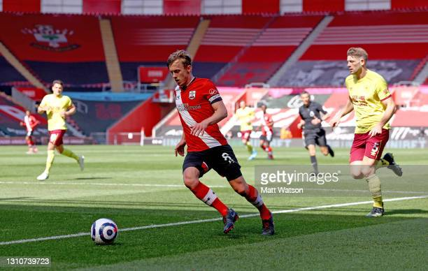 James Ward-Prowse of Southampton during the Premier League match between Southampton and Burnley at St Mary's Stadium on April 04, 2021 in...