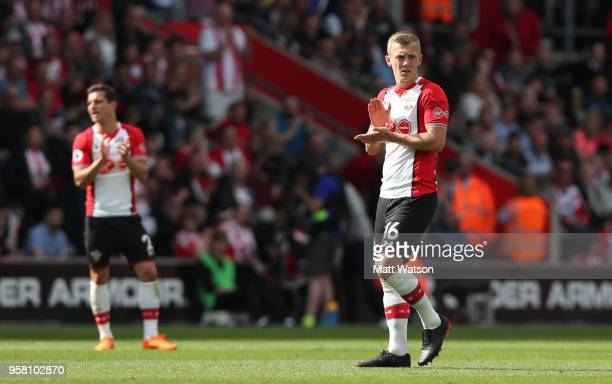 James WardProwse of Southampton during the Premier League match between Southampton and Manchester City at St Mary's Stadium on May 13 2018 in...