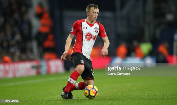 James WardProwse of Southampton during the Premier League match between West Bromwich Albion and Southampton at The Hawthorns on February 3 2018 in...