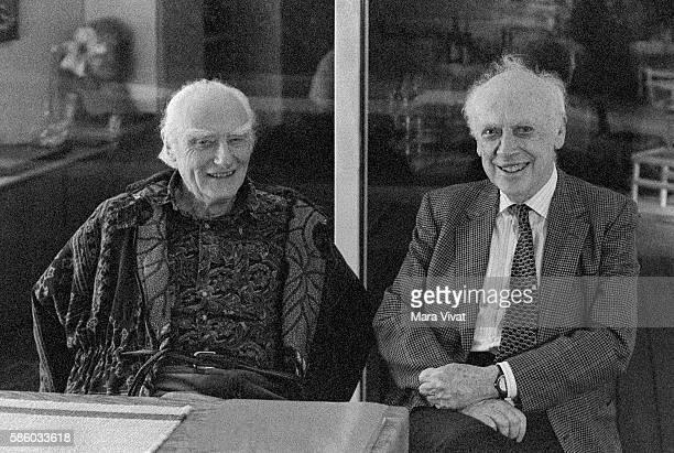 James Watson visiting Francis Crick at the family home in La Jolla California Circa 1990's