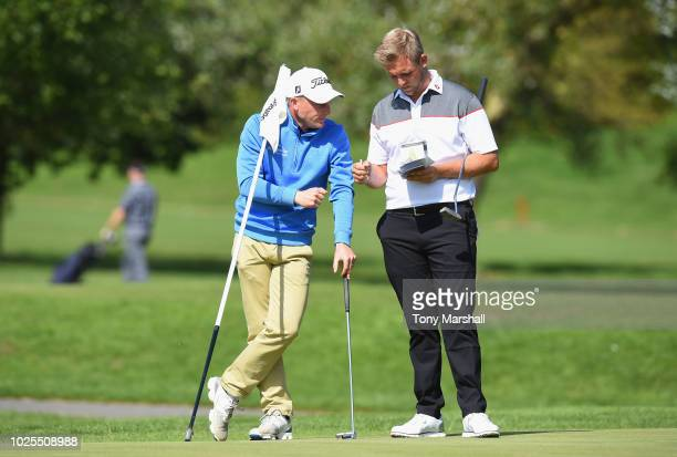 James Watts of Kingsway Golf Centre and Jack Winer of Abridge Golf Country Club on the 9th green during the final round of the Golfbreakscom PGA...