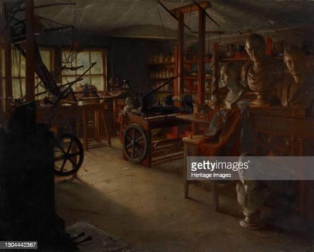 James Watt's Work Room, Heathfield Hall, 19th century. Heathfield Hall, sometimes referred to as Heathfield House, was was erected between 1787-90...