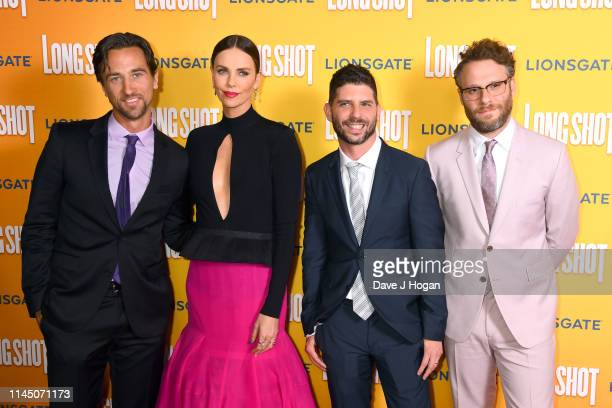 James Weaver Charlize Theron Jonathan Levine and Seth Rogen attend the Long Shot special screening at Curzon Cinema Mayfair on April 25 2019 in...