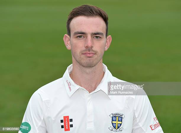 James Weighell of Durham poses for a photograph during the Durham County Cricket Club photocall at the Riverside on April 8 2016 in ChesterLeStreet...