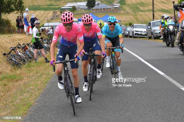 James Whelan of Australia and Team EF Education First Pro Cycling / Alberto Bettiol of Italy and Team EF Education First Pro Cycling / Davide...