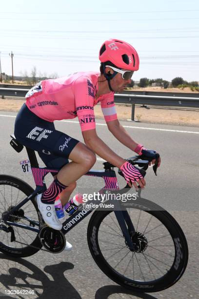 James Whelan of Australia and Team EF Education-Nippo during the 3rd UAE Tour 2021, Stage 3 a 166km stage from Al Ain - Strata Manufacturing to Jebel...
