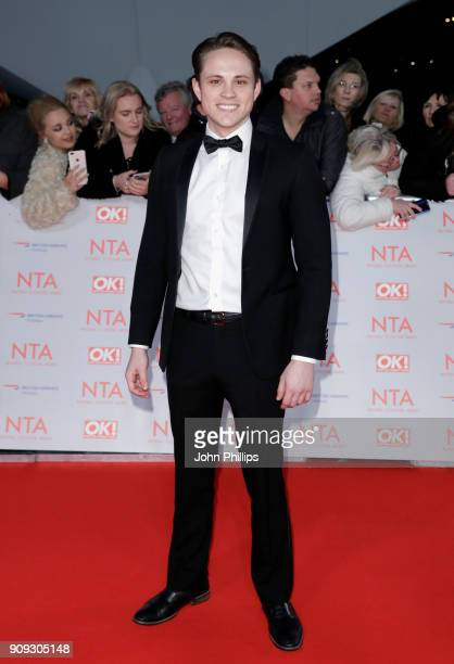 James White attends the National Television Awards 2018 at the O2 Arena on January 23 2018 in London England