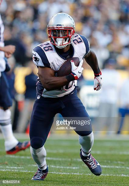 James White of the New England Patriots in action against the Pittsburgh Steelers at Heinz Field on October 23 2016 in Pittsburgh Pennsylvania