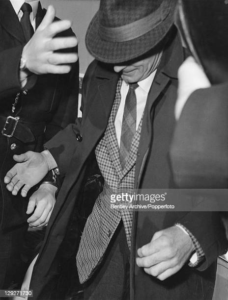James White one of The Great Train Robbers arrives at Linslade Courthouse in Bedfordshire for his hearing 30th April 1966
