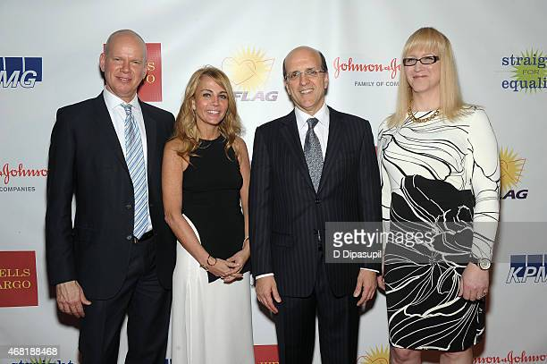 James White Patsy Doerr Jorge Mesquita and Allyson Dylan Robinson attend the 7th Annual PFLAG National Straight For Equality Awards Gala at The New...