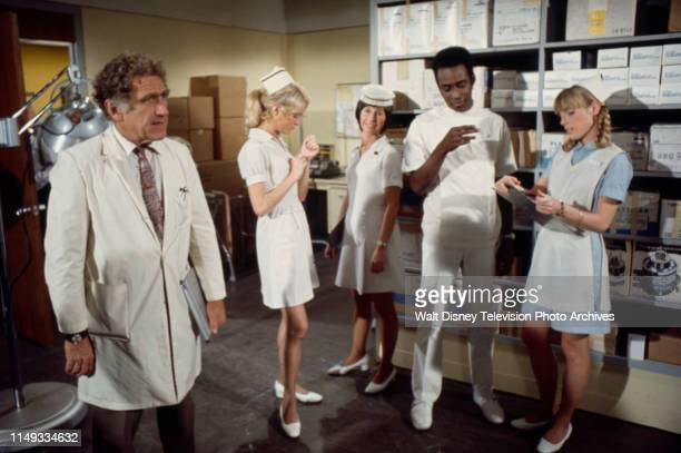 James Whitmore Joan Van Ark Reva Rose Cleavon Little Nancy Fox appearing on the ABC tv series 'The New Temperatures Rising Show' episode 'RX Nose Job'