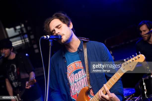 James Wignall of Cheatahs performs on stage at Brudenell Social Club on February 17 2014 in Leeds United Kingdom
