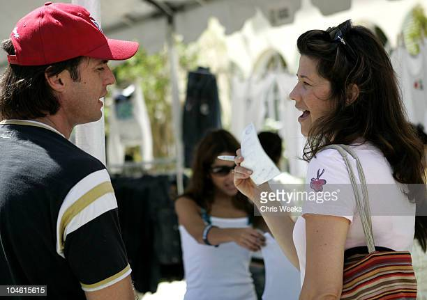 James Wilder and Daphne Zuniga during W Magazine Hollywood Yard Sale at Private Home in Los Angeles California United States