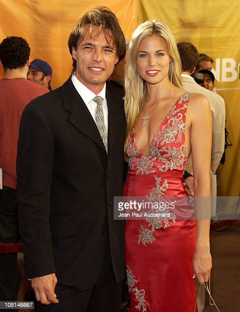 James Wilder Brooke Burns during NBC All Star Casino Night 2003 TCA Press Tour Arrivals at Renaissance Hotel Grand Ballroom in Hollywood California...