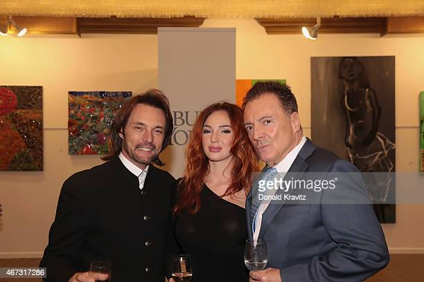 James Wilder Kristina D and Armand Assante attend the cocktail party before the 2015 Garden State Film Festival Awards Dinner at Claridge Hotel on...
