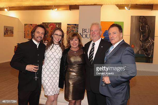 James Wilder Whitney Ullman Kim Butler Kevin Butler and Armand Assante attend the cocktail party before the 2015 Garden State Film Festival Awards...