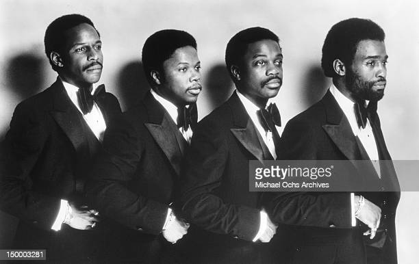 James Williams Joseph Harris Charles Whittington and Leonard 'Butch' Davis of the disco group 'Double Exposure' pose for a portrait in circa 1976