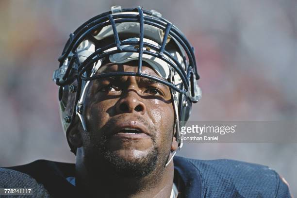 James Williams Tackle and Defensive End for the Chicago Bears during the National Football Conference Central game against the Indianapolis Colts on...