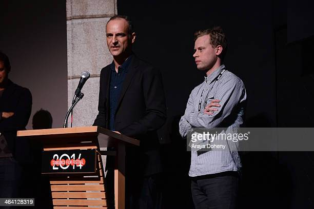 "James Wilson and Dan Bowen attend the ""20,000 Days On Earth"" premiere at Egyptian Theatre on January 20, 2014 in Park City, Utah."