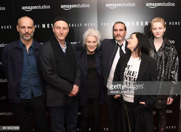 James Wilson Jonathan Ames Judith Roberts Joaquin Phoenix director Lynne Ramsay and Ekaterina Samsonov attend the New York special screening of...