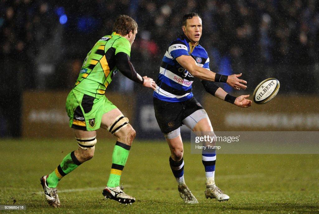 Bath v Northampton Saints - Anglo-Welsh Cup Semi Final : News Photo
