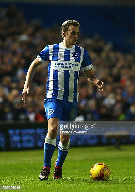 James Wilson of Brighton attacks during the Sky Bet Championship match between Brighton and Hove Albion and Wolverhampton Wanderers at The Amex...