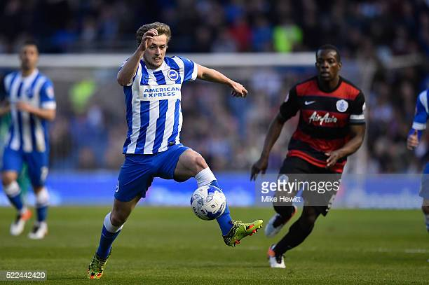 James Wilson of Brighton Hove Albion in action during the Sky Bet Championship match between Brighton and Hove Albion and Queens Park Rangers on...