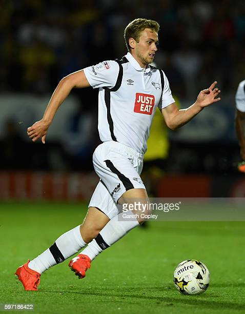 James Wilson of Derby during the Sky Bet Championship match between Burton Albion and Derby County at Pirelli Stadium on August 26 2016 in...