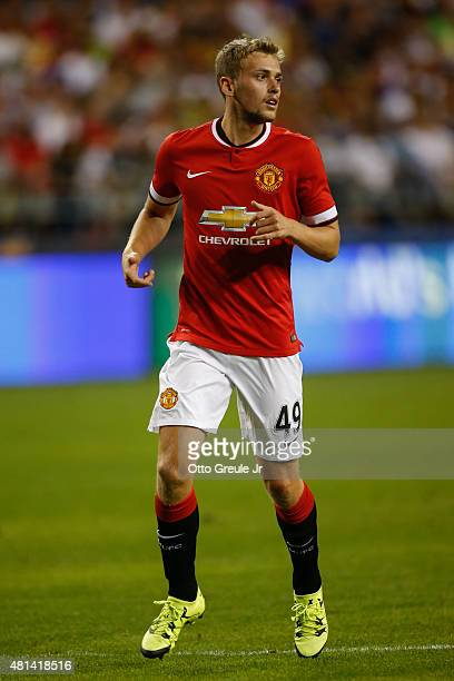 James Wilson of Manchester United follows the play against against Club America during the International Champions Cup at CenturyLink Field on July...