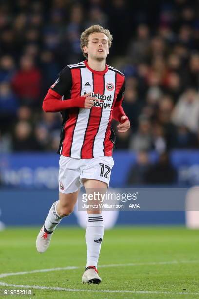 James Wilson of Sheffield United during the Emirates FA Cup Fifth Round match between Leicester City and Sheffield United at The King Power Stadium...
